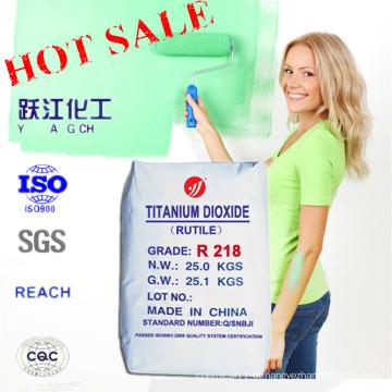 Rutile Grade Titanium Dioxide Pigmento Branco para Revestimento