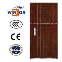 Popular Europ Security Steel MDF Wood Veneer Armored Door (W-A2)