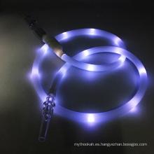 Manguera creativa de la cachimba de Shisha del silicón de la linterna del LED blanco 1.8m (ES-HH-015-5)