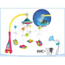 Juguetes musicales a control remoto Móviles proyectiles del bebé en el pesebre para el bebé