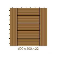 500 * 500 * 22 WPC / madera de plástico compuesto de bricolaje piso