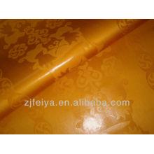 Высокое Качество 100%Хлопок Золотой Цвет Дамасской Shadda Базен Riche Гвинея Парчи Африканский Ткань Текстильный