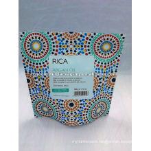 Colorful stand up aluminum foil zipper paper bag
