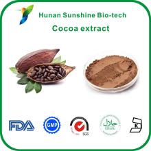 Großhandel CAS-Nr .: 83-67-0 Theobromin 10%, 20% Kakaobohnenextrakt
