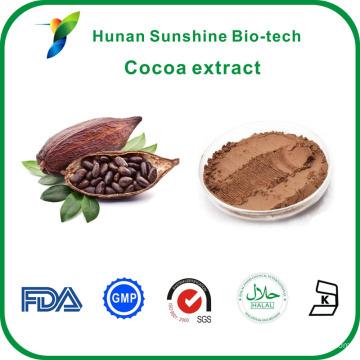 Оптовая CAS никакой:83-67-0 Теобромин 10%,20% экстракта какао-бобов