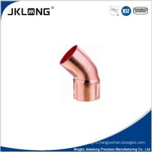 J9008 кованая медь 45-градусный коленчатый патрубок 1-дюймовый медный трубный фитинг