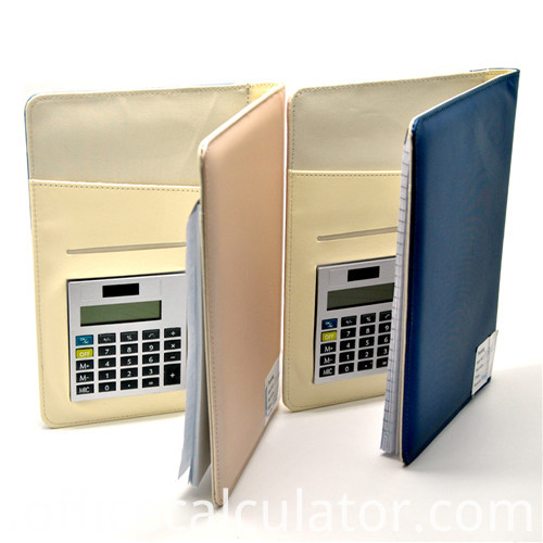 notepad organizer with calculator