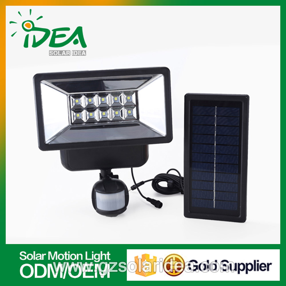 2W solar sensor night light