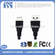 3.3ft 1m Reversible Design Hi-Speed ​​USB 3.1 Typ C Stecker auf Standard Typ A USB 3.0 Stecker Datenkabel für Apple Neues Macbook