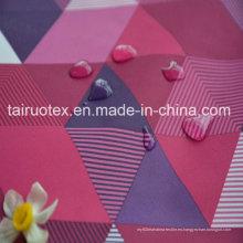 Taslon impreso con revestimiento impermeable y blanco para la tela de la ropa