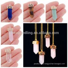 Grossistas china druzy quartzo cristal colar de pingente de pedra natural, fornecedor de jóias China