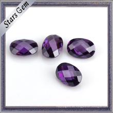 Conjunto de joyas Varios colores Doble Checker Cut Oval CZ Stone