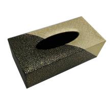 Rectángulo de cuero caja de tejido para el hotel / oficina / habitación