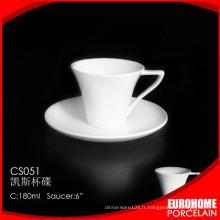 nouvelles arrivées café thé vaisselle tasse en porcelaine pour hôtel