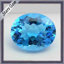 Естественный швейцарский синий топаз овальной формы Cut Gems для подвески