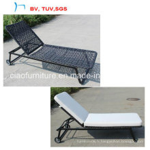 2016garden Flower Weaving Patio Chaise Lounge dans le jardin (CF966L)