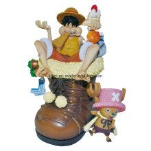 Brinquedos plásticos do bebê da figura de ação do PVC dos desenhos animados do vinil de Luffy do pirata