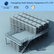 Plancher de mezzanine de rayonnage avec le support d'étagère de GV / OIN pour le stockage d'entrepôt