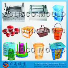 2015 hot sold plastic basket laundry basket mould die maker