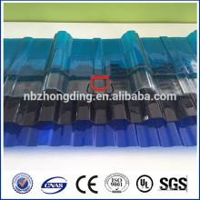 Feuille de polycarbonate ondulée Lexan / feuille ondulée en polycarbonate / feuille de polycarbonate ondulée pour toiture