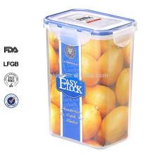caja de almacenamiento de contenedores de spaghetti rectangular de plástico con tapa