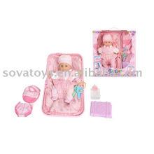 906031549 vívida boneca, boneca de plástico, 12 polegadas bebê conjunto de boneca