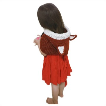 Hign quality comfort autumn and Winter Squirrel Cap  Cartoon Children Crochet Hat Handmade Fox Bib Hat Set Woolen Hat AliExpress
