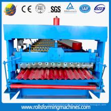 Máquina formadora de rollos de techo corrugado de acero 750