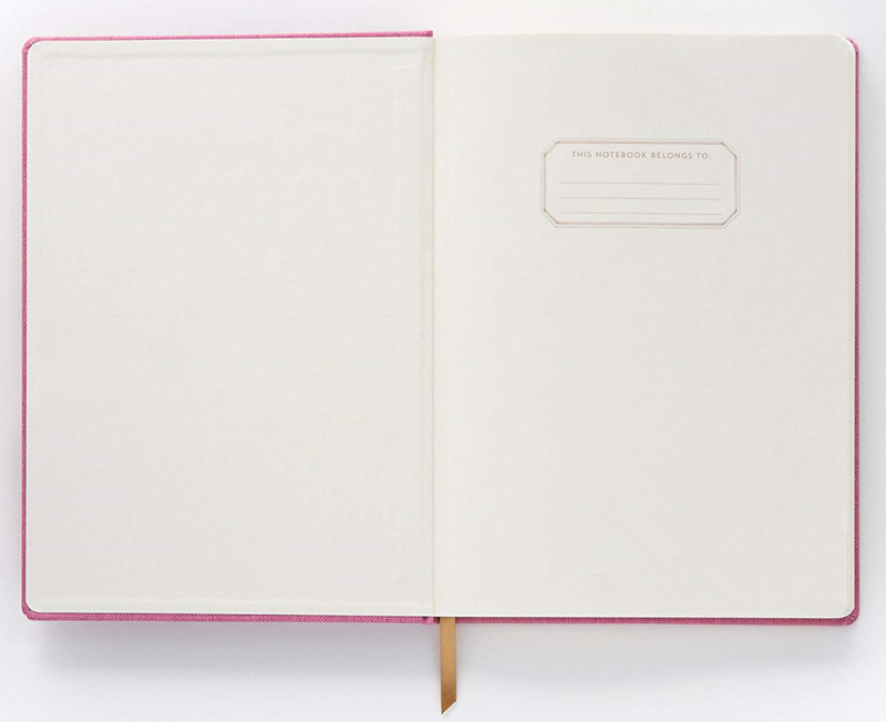 Pink Cloth Cover Notebook 1