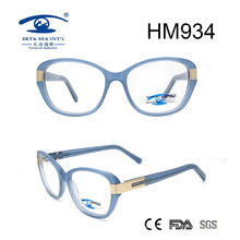 Fashion Acetate Light Color Spectacles Eye Glasses (HM934)
