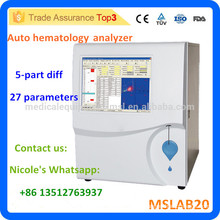 2016 New brand MSLAB20i clinic full automatic 5-part diff blood cell count machine/blood analyzer