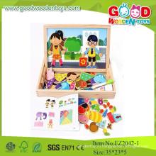 Горячий новый продукт на 2015 год Магнитная форма игры Обучающие игрушки в деревянном ящике