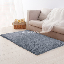 Microfibres et Shinning Polyester Chenille Antidérapant Tapis
