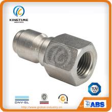 Boquilla de tubo de rosca hembra de liberación rápida de acero inoxidable (KT0413)