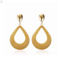 El último diseño personalizó los pendientes largos del oro saudita Joyería, los pendientes largos del oro de la manera de las mujeres
