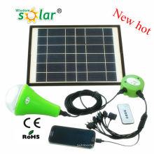 Продаваемая CE Солнечная светодиодные освещение для дома для ночного использования с одной лампой