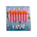 PINK Ombre Spiral Birthday Candles Bulk