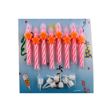 PINK Ombre Spiral Birthday Candles Luzem