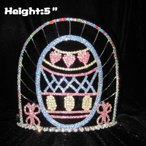 5in Height Crystal Easter Egg Easter Pageant Crowns