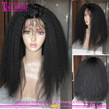 Brazilian virgin human hair glueless kinky straight full lace wigs