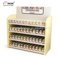 Los cosméticos de madera componen el mostrador de venta al por menor del mostrador del esmalte de uva del contador para entender la marca del cliente y las necesidades del negocio