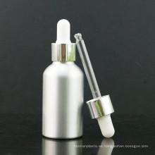 Botella de cuentagotas de aluminio de color primario con tapa de aluminio y pipeta