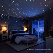 Glow in the Dark stars stickers self-adhesive wall murals stickers removable stickers for Boys or Girls