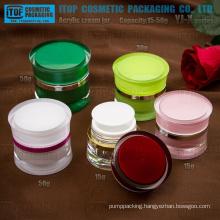 YJ-X Series 15g 30g 50g drum shape round waist acrylic jars
