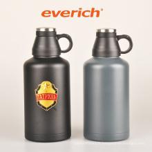 Gommage à bière en acier inoxydable en bouche large en poudre avec couvercle Easy Drink