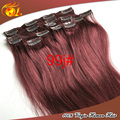 can be choose fashion difference color clip in human hair