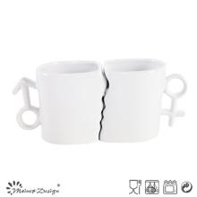 Tazas de porcelana de porcelana de 11oz con cuchara
