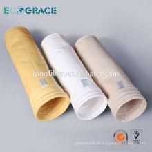 P84 filtro de aguja bolsa de filtro de polvo farbic