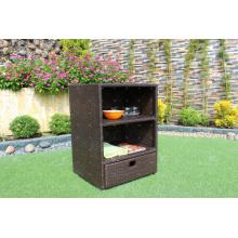 Meuble de rangement en osier en rotin pour patio professionnel