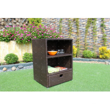 Professional Design Patio PE Rattan Wicker Storage Cabinet